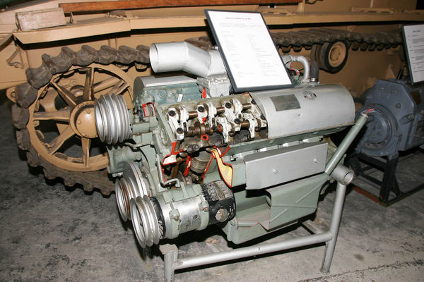 Deu Maybach Hl 120 Motor Motory Pozemn Techniky