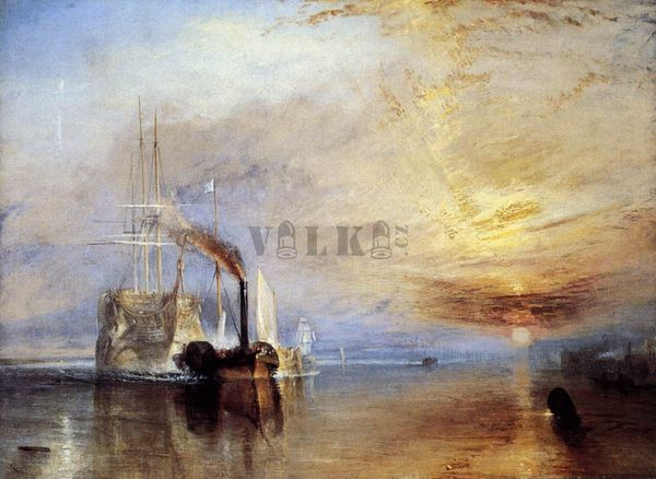 The Fighting Temeraire, tugged to her Last Berth to be broken up, Joseph Mallord William Turner, 1838